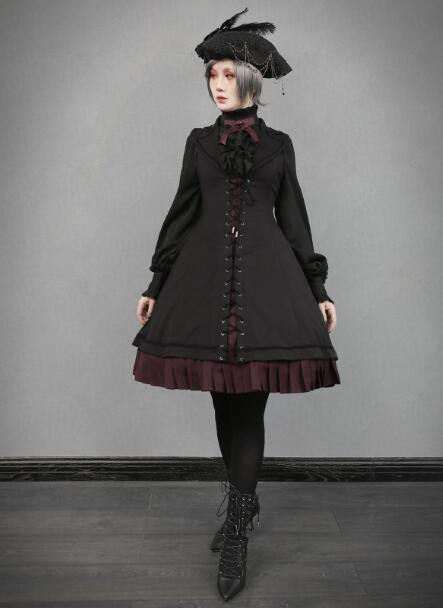 Fran's Oath Goth Assymtrical JSK Dress