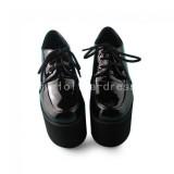 Elegant Black Glossy Lolita High Platform