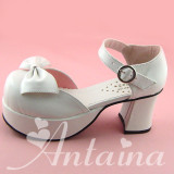 Bows Patent Leather Lolita Sandals
