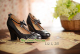 Replica Lolita Square Heels Shoes with Wrinkle