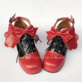 Dark Blue Bows Lolita Heels Shoes