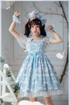 Cats On the Cloud~ Sweet Lolita JSK Dress -Limited QTY!!!