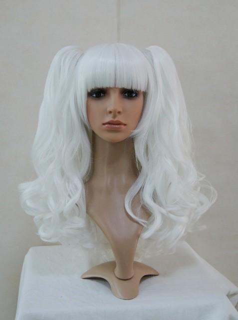 White Ponytail Wavy Lolita Wig