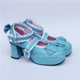 Matte White Bow Lace Lolita Shoes