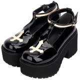 Gothic Punk Style Cross Lolita Shoes