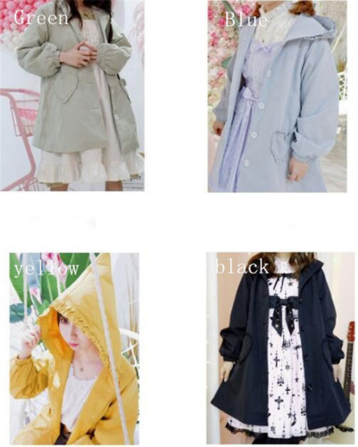 Witch No.1~ Lolita Trench Coat with Hoody -Limited Sales