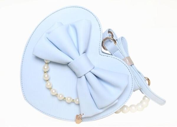 AP Replica Lady Heart Ribbon Cross-body Bag Black - In Stock