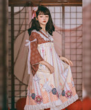 Honey Machien~ Japanese Origami  Lolita OP -Ready Made