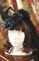 Surface Spell Lady in Black Vintage Wool Hat