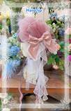 Elpress L ~Fish Scale Elegant Lolita JSK Dark Purple JSK Size 1 + Arm Sleeves In Stock