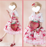 A Strawberry~Sweet Bows Lolita cross bag -Ready made