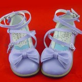 Classic Tea Party Shoes Purple Bow Lolita
