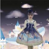 Floating Castle Whales~Sweet Printed Lolita JSK