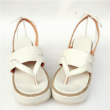 Unique White with Ivory Lolita Sandals