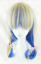 Japanese Daily Fashion Curly Cream Blue Lolita Wig
