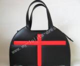 Bat Shape Black Lolita HandBag Black with Red Cross - In Stock