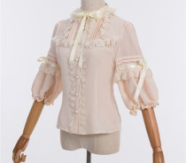 Crown Bear Chiffon Lolita Blouse