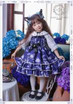 Black Cat Nebula~ Gothic Lolita JSK for Kids - Ready Made