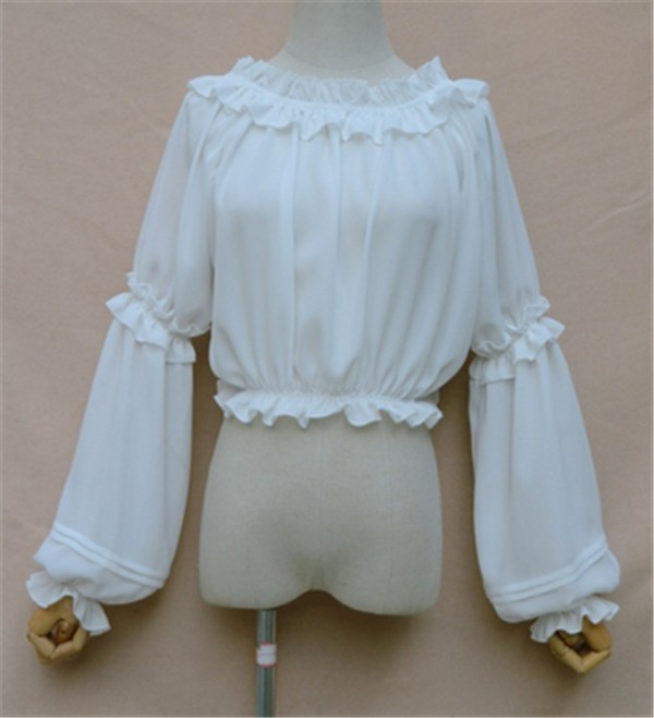 Sweet Short Version Long Seeves Lolita Blouse