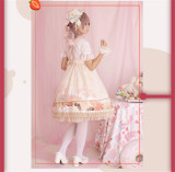 The Clock Adventure~ Sweet Lolita JSK Dress With Overskirt Version I