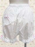White Hearts Lolita Bloomers