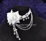 Beatiful Bridal Roses Crystal Lolita Necklace