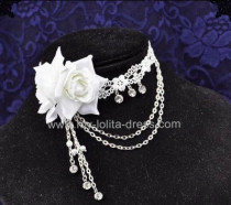 Beatiful Bridal Roses Crystal Lolita Necklace