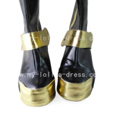 Gothic Black and Golden Boots