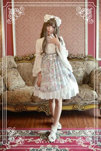 Neverland Lolita -Antique Clock- Sweet Lolita Normal Waist Skirt