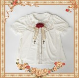 Rosary -Chiffon Tailored Embroidery Lolita Short Sleeves Blouse