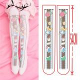Sweet 54cm Long Velvet Above Knee Lolita High Socks