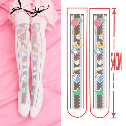 Sweet 54cm Long Velvet Above Knee Lolita High Socks