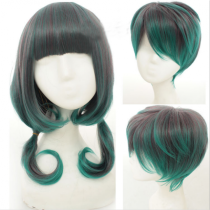 Couple's Brown Peacock Green Lolita Short Wig