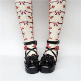 Sweet Red Bows Lolita Heels Shoes