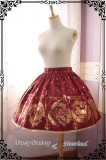 ***The Mermaids Singing*** Series Gold Stamping Normal Waist Lolita Skirt