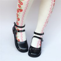 Coffee Low Heels Lolita Shoes