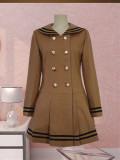Princess Faith College School Style Sailor Style Lolita Long Coat