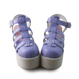 Beautiful Matt White Purple Sandals