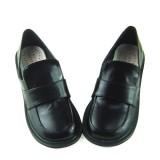Black Punk Lolita Flats Footwear