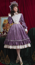 Rose Humanoid~ Velvet Vintage Classic Lolita OP -Ready Made