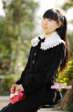 White Lace Collar Waistbelt Lolita Jacket