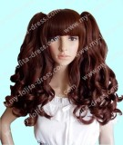 Chocolate Brown Long Curly Lolita Wig - In Stock