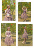 UnicornTears ~ Flowers And Birds Roll Lolita JSK -Ready Made