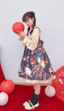 Small Fish Balls~ Sweet Lolita High Waist JSK - Ready Made