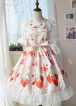 Copy Doris Night Lolita ~Cherry Strawberry~ Sweet Lolita OP -Special Price