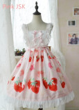 Doris Night Lolita ~Cherry Strawberry~ Sweet Lolita OP -Special Price