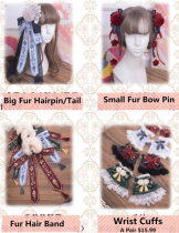 Panda ~Classic Qi Lolita Accessories -Ready Made
