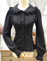 Elegant Cambric Chiffon Long Sleeves Lolita Blouse