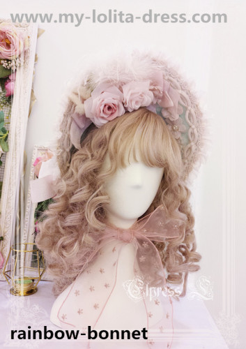 Elpress L Elis Luxury Details Lolita Accessaries -Ready MADE Pink In Stock