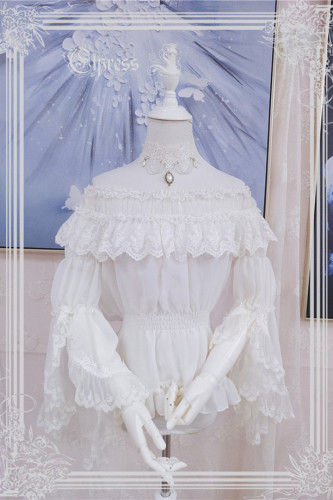 Elpress L ~Christmas D*Romance Ode~ Elegant Lolita Accessaries White Blouse - In Stock